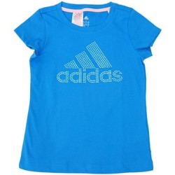 Vêtements Fille T-shirts manches courtes adidas Performance T-shirt Logo Bleu