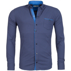 Chemises manches longues Beststyle Chemise homme stylée bleu