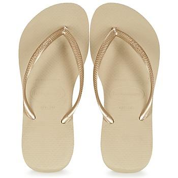 Chaussures Femme Tongs Havaianas SLIM Or