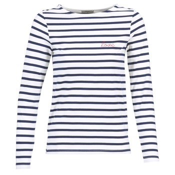 Vêtements Femme T-shirts manches longues Betty London IFLIGEME Blanc / Bleu