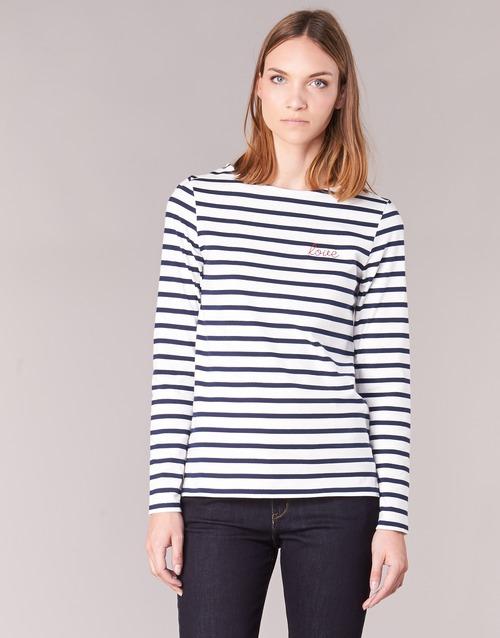 Vêtements Femme T-shirts manches longues Betty London IFLIGEME Blanc / Bleu