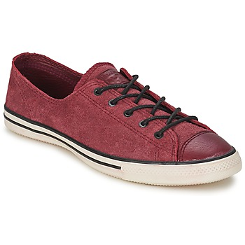 Baskets mode Converse Chuck Taylor All Star FANCY LEATHER OX Bordeaux 350x350