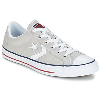 buy popular 5c189 6817e Chaussures Baskets basses Converse STAR PLAYER OX Gris Clair   Blanc