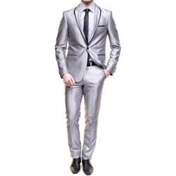 Vêtements Homme Costumes  Jean Louis Scherrer Sch052 Vogue Light Grey Gris