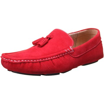 Chaussures Homme Mocassins Reservoir Shoes Walter Moccassin Rouge Rouge