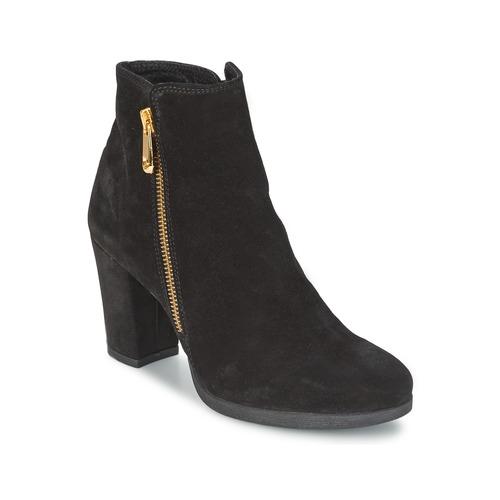 Chaussures Femme Bottines Café Noir TAIBI Noir