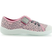 Chaussures Fille Baskets basses Befado Panterka Gris-Rose