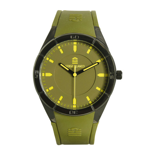 Montres Serge Blanco Montre  All Colors SB1095-8 - Montre Silicone Verte Homme  350x350