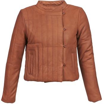 Vêtements Femme Vestes en cuir / synthétiques Antik Batik YOANN Cognac
