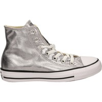 Chaussures Femme Baskets montantes Converse ALL STAR HI CANVAS M Argenté
