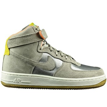 Chaussures Homme Baskets montantes Nike Air Force 1 07 High Premium Argent-Beige