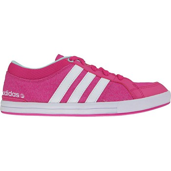 Chaussures Femme Baskets basses adidas Originals Skool K Blanc-Rose-Bleu
