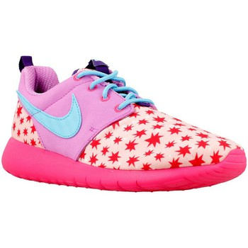 Chaussures Fille Baskets basses Nike Roshe One Print GS Bleu-Rose