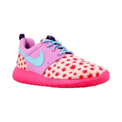 Chaussures Fille Baskets basses Nike Roshe One Print GS bleu