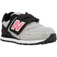 Chaussures Fille Baskets basses New Balance KV574 Gris-Noir-Rose