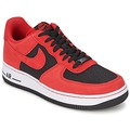 Chaussures Homme Baskets basses Nike AIR FORCE 1 Noir / Unvrsty Red-Unvrsty Rd