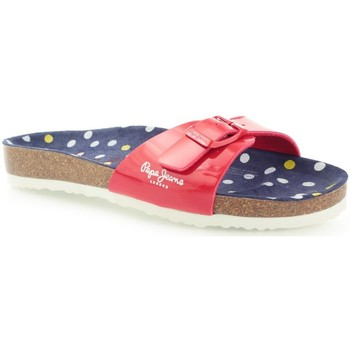 Chaussures Femme Mules Pepe jeans PGS90033 Bio Basic Red Rose