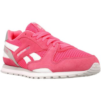 Chaussures Fille Baskets basses Reebok Sport GL 3000 Rose-Blanc