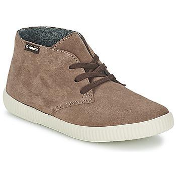 Chaussures Baskets montantes Victoria SAFARI SERRAJE Moca