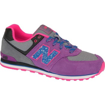 Chaussures Fille Baskets basses New Balance KL574O5G Gris-Rose