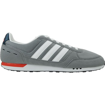 Chaussures Homme Baskets basses adidas Originals Neo City Racer Gris-Rouge-Bleu marine