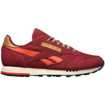 Chaussures Homme Baskets basses Reebok Sport Class Nylon Whtlt Grey CL Leather Utility Burgundymotor Reds Bordeaux-Rouge-Marron