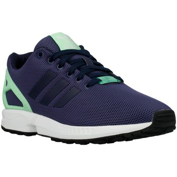 Chaussures Femme Baskets basses adidas Originals ZX Flux W Light Flash Green Vert clair-Bleu marine