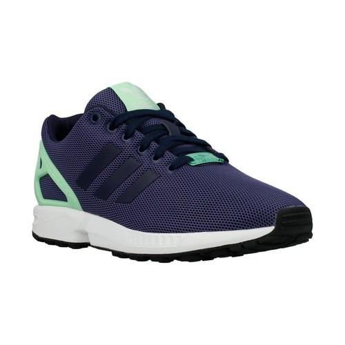 Chaussures Femme Baskets basses adidas Originals ZX Flux W Light Flash Green Bleu marine-Vert clair