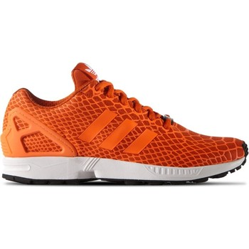 Chaussures Homme Baskets basses adidas Originals ZX Flux Techfit Blanc-Noir-Orange