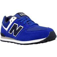 Chaussures Fille Baskets basses New Balance KL574SUG Bleu-Bleu marine