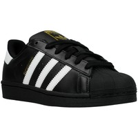 Chaussures Garçon Baskets basses adidas Originals Superstar Foundation J Blanc-Noir