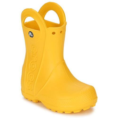 Chaussures Enfant Bottes de pluie Crocs HANDLE IT RAIN BOOT KIDS Jaune