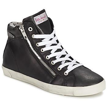 Chaussures Femme Baskets montantes Little Marcel PRATIK Noir