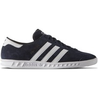 Chaussures Homme Baskets basses adidas Originals Hamburg Blanc-Bleu marine