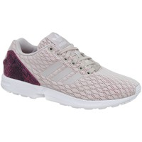 Chaussures Femme Baskets basses adidas Originals ZX Flux W Blanc-Beige-Rose