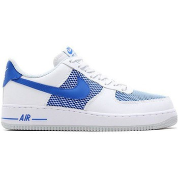 Chaussures Homme Baskets basses Nike Air Force 1 07 Blanc-Bleu