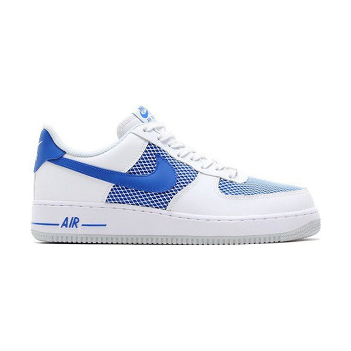 nike air force 1 07 blanc bleu chaussures baskets basses homme 111 10. Black Bedroom Furniture Sets. Home Design Ideas