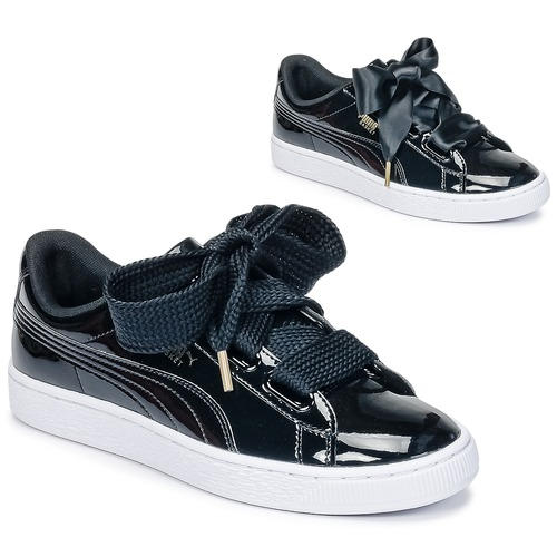sneakers for cheap 4b5b3 1aa6d Puma BASKET HEART PATENT WN S Noir Verni - Livraison Gratuite ...