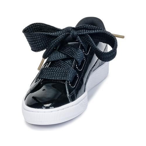 5ee36c6da84 Puma Noir Wn s Baskets Heart Patent Basket Verni Chaussures Rc3Lq4jSA5