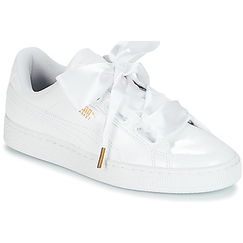 designer fashion e9668 db48d Chaussures Femme Baskets basses Puma BASKET HEART PATENT WN S Blanc
