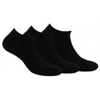 Accessoires Femme Chaussettes Kindy Invisibles X3 jersey unies femme Noir