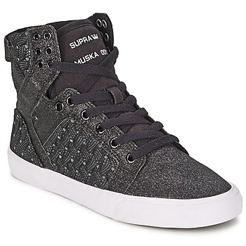 Chaussures Femme Baskets montantes Supra SKYTOP Noir / Blanc