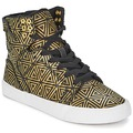 Chaussures Femme Baskets montantes Supra SKYTOP Or / Noir