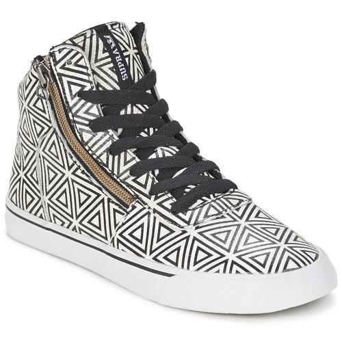 Chaussures Femme Baskets montantes Supra CUTTLER Blanc / Noir
