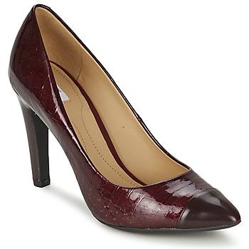Chaussures Femme Escarpins Geox CAROLINE Bordeaux