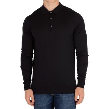 Vêtements Homme Polos manches longues John Smedley Homme Cotswold Longsleeved Polo, Noir noir