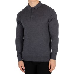 Vêtements Homme Polos manches longues John Smedley Homme Cotswold Longsleeved Polo, Gris gris