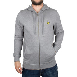 Vêtements Homme Sweats Lyle & Scott Homme Logo Zip chiné à capuche, Gris gris