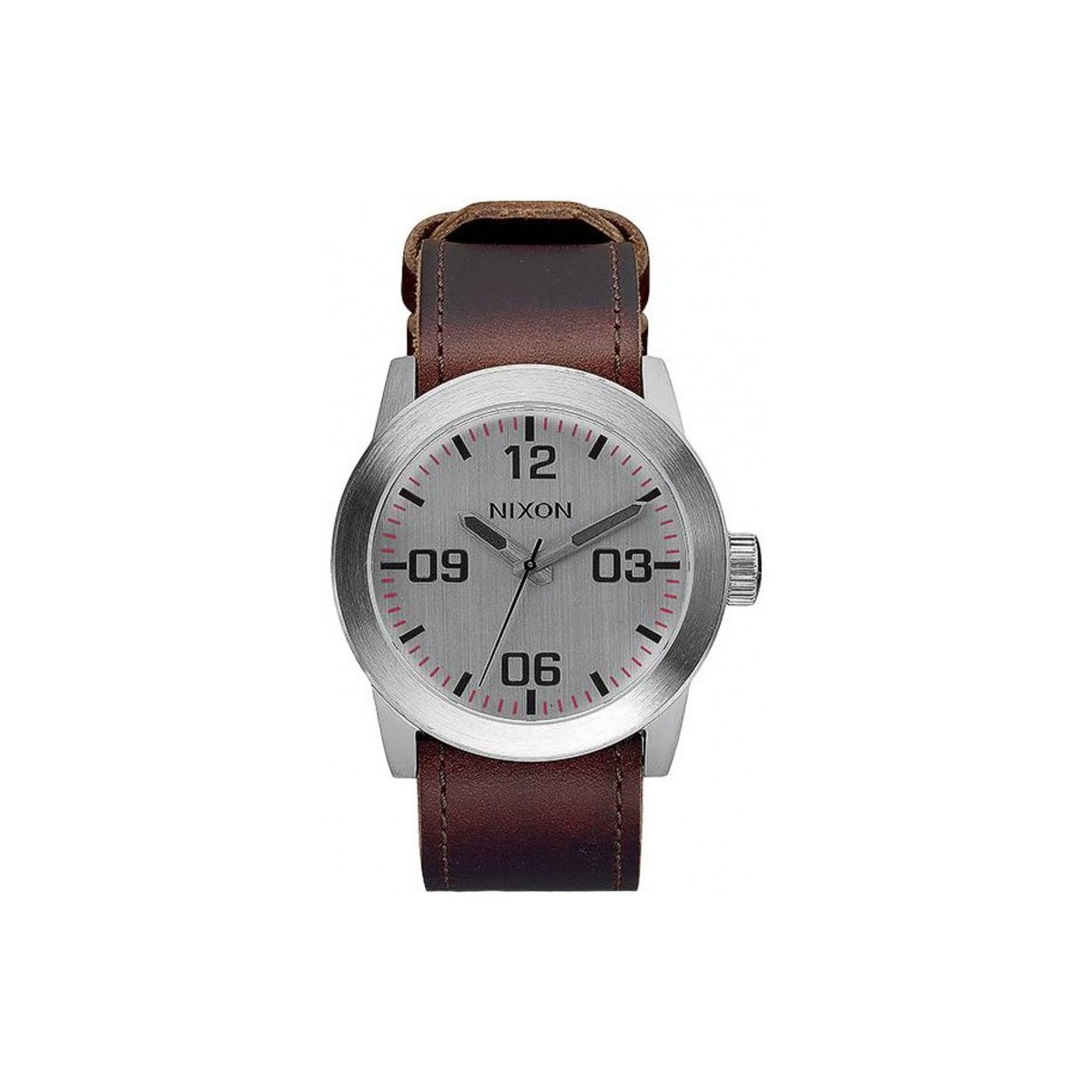 Nixon Montre  Private - Silver / Brown Marron