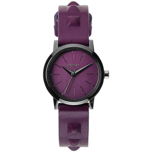 Montres Nixon Montre  Kenzi Leather - Bordeaux / Studded Violet 350x350